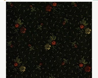 20 % off thru 7/4 Moda fabric by 1/2 yard Kansas Troubles Quilters Favorites - tiny flowers on black 9165-18