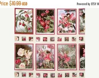 20 % off thru 8/20 fabric panel SWEET BLOSSOM Fairy Fairies from Michael Miller