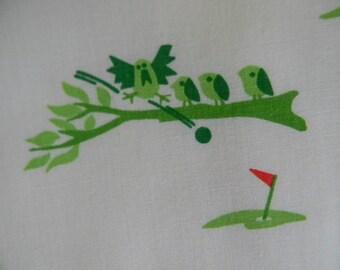 Vested Gentress preppy green novelty bird print golf skort | mod scooter skirt sz 12 |