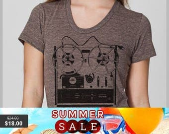 Summer Sale Women's T Shirt  XL - Reel to Reel - American Apparel