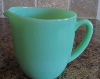 FREE USA Shipping-Vintage Fire King Jadeite Milk Pitcher from Breakfast Set