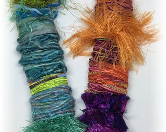 Fiber Wands..Embellishment Samplers of Color and Texture!