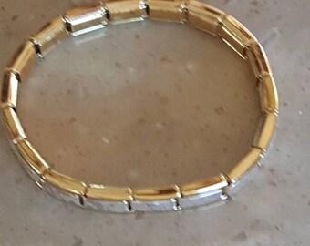 Silver and gold link Bracelet