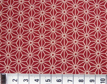 Red - Sevenberry - 50 x 110 asanoha pattern