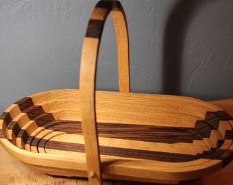 Hand Made Wood Collapsible Fruit Basket