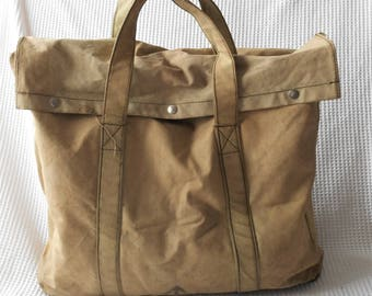 Large Vintage Canvas Bag Travel Army Navy Style Luggage