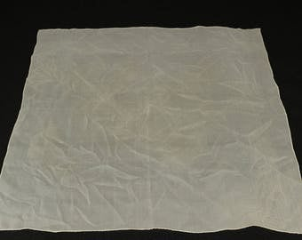 Vintage French Ohrbach's Sheer Silk Scarf, 22 x 22 inches