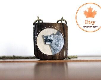 Raccoon Necklace- Canada150 wooden necklace
