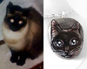 Personalized Necklace, Custom Pet Portrait, In Memory Gift, Pet Loss, Pet Memorial, Original Painting, Dog Art, Cat Pendant, Pet Owner Gift