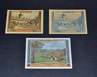 Austria Notgeld banknotes Waldhausen  1920 Uncirculated