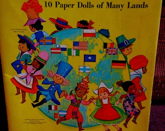 Rare 1966 Disney It's a Small World Paper Dolls of Many Lands Unused Condition Vintage Disney