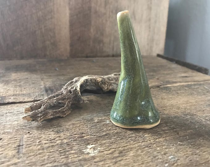 ceramic ring holder, mountain ring cone, handmade clay ring holder, nature inspired home decor, unique dresser decorations, jewelry displays