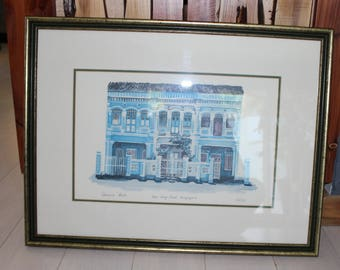 Catherine Beale Covns Seug Road Singapore Signed Numbered Print