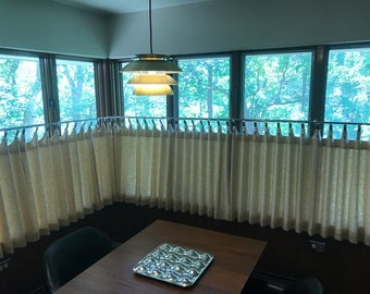 Linen-Curtains-Cafe Curtains-Kitchen Curtains-Scalloped