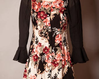 Vintage 80s 90s Womens Floral Dress - Amy Too