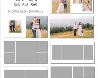 SALE 10x10 ProDPI Album Template 60 Page - Includes 12x12, 10x10, 8x8, 6x6, 5x5 - INSTANT DOWNLOAD - ALB33