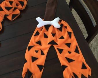 bam bam costume capris- hat and club Flintstone costume