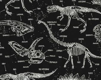 Glow in the Dark Dinosaur Skeletons from Timeless Treasure Fabrics