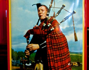 Sharp and Sons Bagpiper Vintage tin