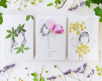 Illustration greeting card - Botanical Girls series - Cards series, Greeting Cards, Stationery