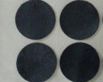 "30 pcs 1"" Black Leather Pad to make DIY Shoe Decorations, Embellishments"