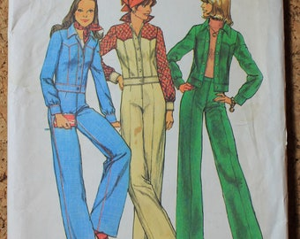 Simplicity Vintage Sewing Pattern 6620 Misses size 14 Jacket and Pants 1974