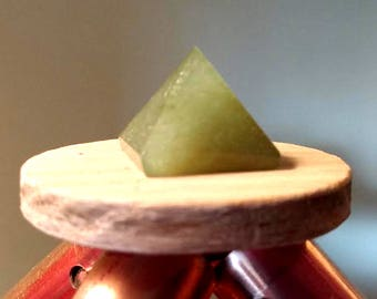 Green Aventurine Capstone for Copper Pyramid