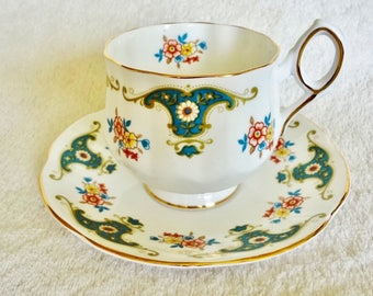 Vintage Teacup and Saucer by Rosina