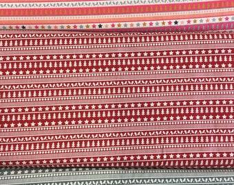 Fabric Freedom Scandi Christmas Collection FF48 Red, Green or Multi by the half metre