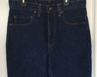 Vintage 70s 80s Jeans Levis jeans 517 dark wash