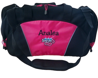 Duffel Bag Personalized Swim Goggles Competition Pool Diving Team Sports Luggage Monogrammed