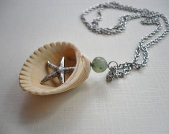 Surprise Shell - Starfish Hidden Charm Necklace