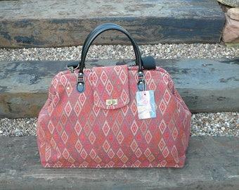 Carpet Bag, Weekender Bag, Overnight Bag, Mary Poppins Bag, Tapestry Fabric Bag, Weekend Bag, Lay A Way,