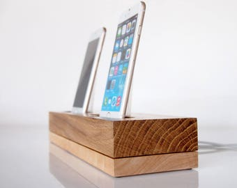 iPhone dual docking station - iPhone 6s dock / iPhone 6s plus charging station / iPhone 7 dock / iPhone 7 plus charging station