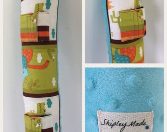 Seatbelt Pillow - Dinosaur Pillow - Carseat Pillow - Pillow for Boys - Seat Belt Pillow