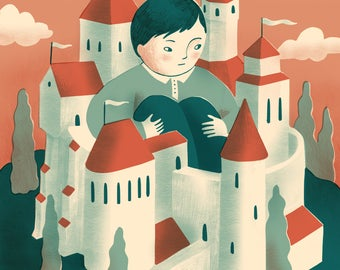 The Boy in the Castle Illustration Print