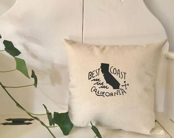California - Accent Pillow, West Coast, Christmas Gift