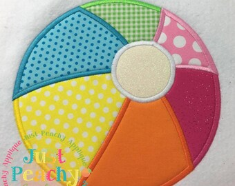 Beachball Machine Embroidery Applique Design Buy 2 for 4! Use Coupon Code 50OFF