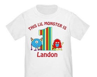 ON SALE Monster Personalized Birthday Shirt - ANY Age and Name