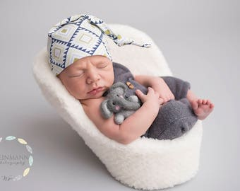 coming home outfit - navy blue - knot hat - hospital hat - hospital hats for boys - newborn knot hat - baby boy hat - baby shower gift