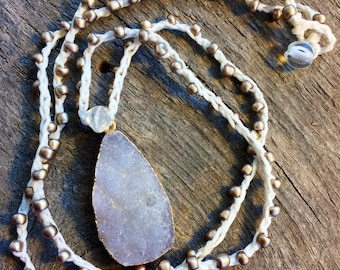 Crystalize Crochet Druzy Necklace