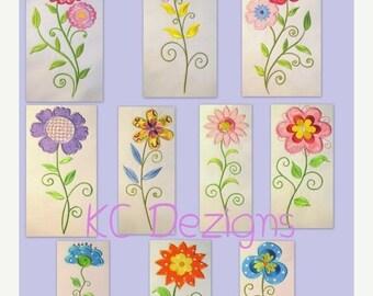 ON SALE Vintage Flower Full Set Machine Applique Embroidery Design - 5x7 & 6x8
