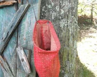 Farmhouse Clothespin Bag With Clothespins - Clothesline Bag