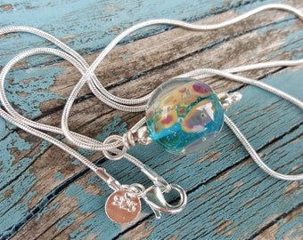 Coastal Seaside Pendant on Silver Chain