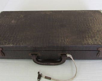 Vintage Mah Jong Mahjong Locking Case 1950 EMPTY