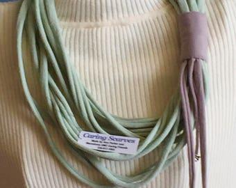 Écume de mer vert et sable cercle T-ze-collier écharpe 41f93749d14