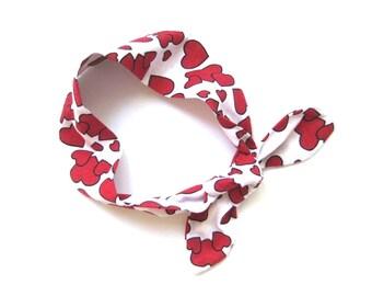 Toddler Headbands, Heart Headband, Knot Headwrap, Valentine Headband, Newborn Headband, Baby Turban, Infant Headband,Gift Idea,Ready To Ship