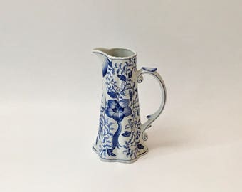 Andrea by Sadek Blue and White Pitcher with Handle, Thailand