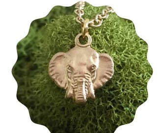 60% OFF Sale Gold elephant necklace - Elephant Charm - Lucky elephant - Elephant necklace - Gift for her - Ganesga Pendant - Gift for Friend