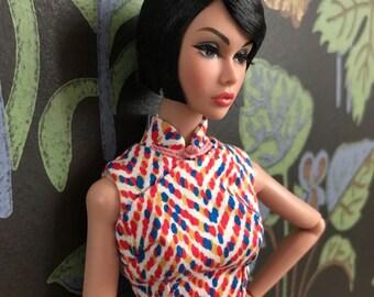 OOAK Cheongsam dress/Qipao for Misaki and Poppy Parker